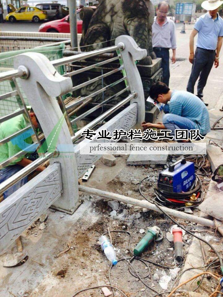 重庆铸造石护栏施工现场